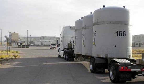 Depleted Uranium storage tanks