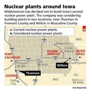Iowa Nuke Plants
