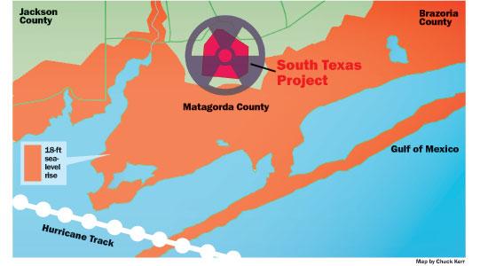 Matagorda Nuclear Map