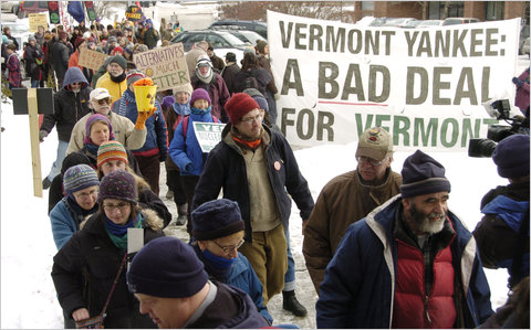 Protestors march against Vermont Yankee